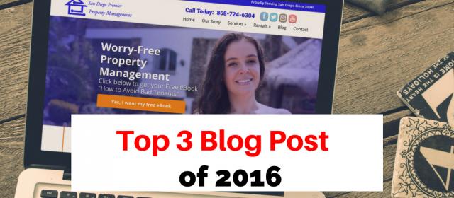San Diego Premier Property Management: Top 3 Blog Post of 2016