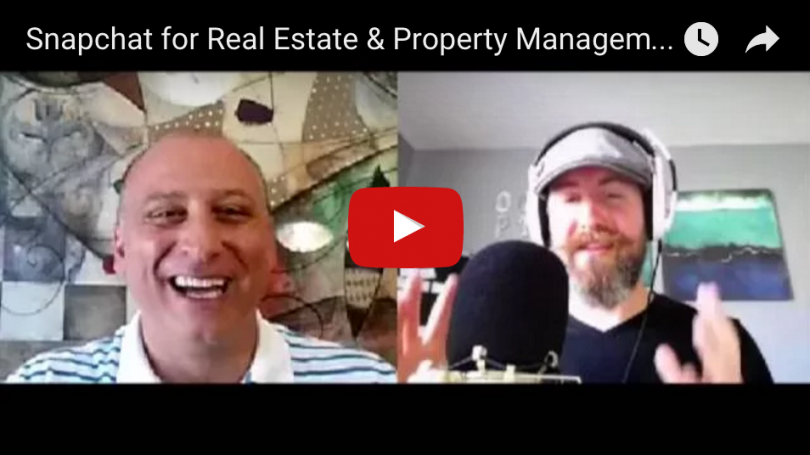 Property Management Expert Talks Social Media Marketing & Snapchat