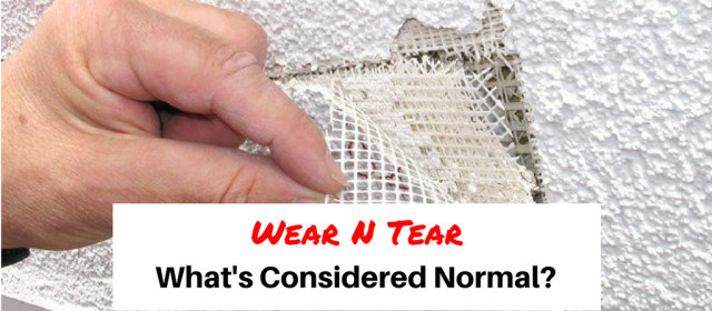 What's Considered Normal Wear and Tear?
