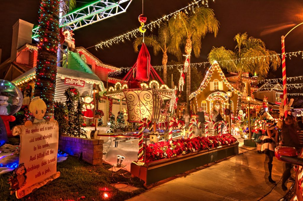 Top 3 San Diego Holiday Light Displays - Poway Candy Cane Lane - San Diego Premier Property Management