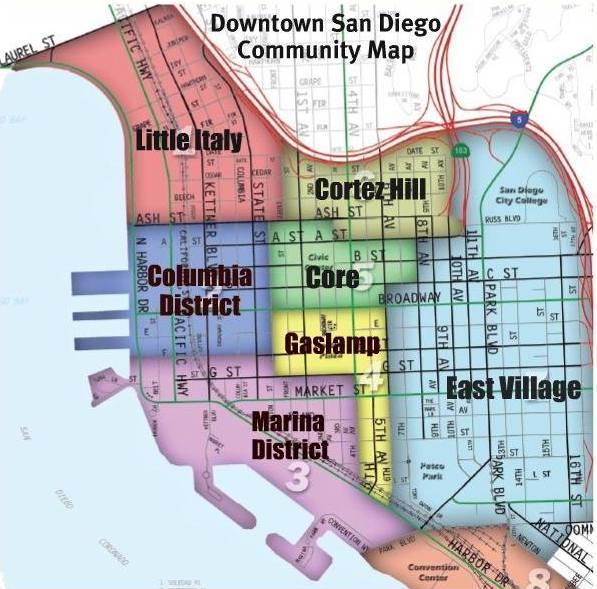 Little Italy San Diego Map.Neighborhood Spotlight Little Italy San Diego San Diego Premier