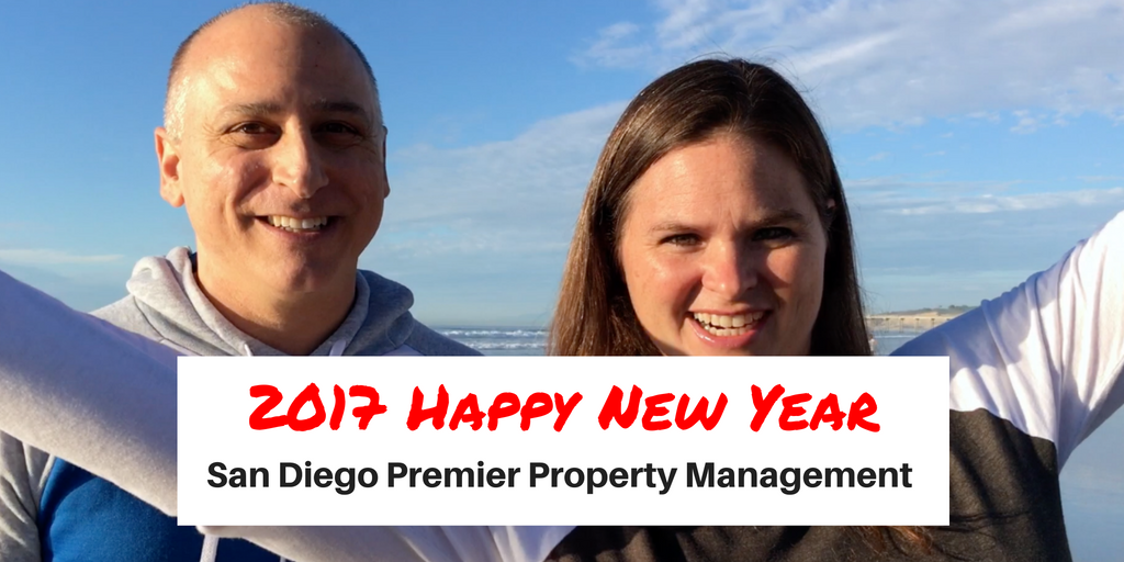 San Diego Premier Property Management Happy New Year 2017